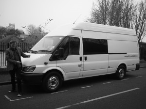 Dave by the Tour Van