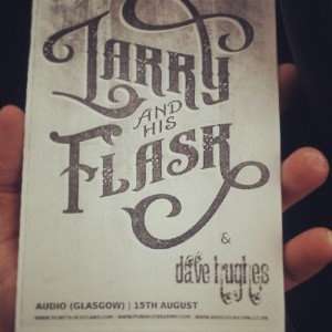 Flyer for the Larry and His Flask show