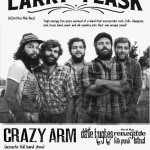 Upcoming gigs with Larry and his flask